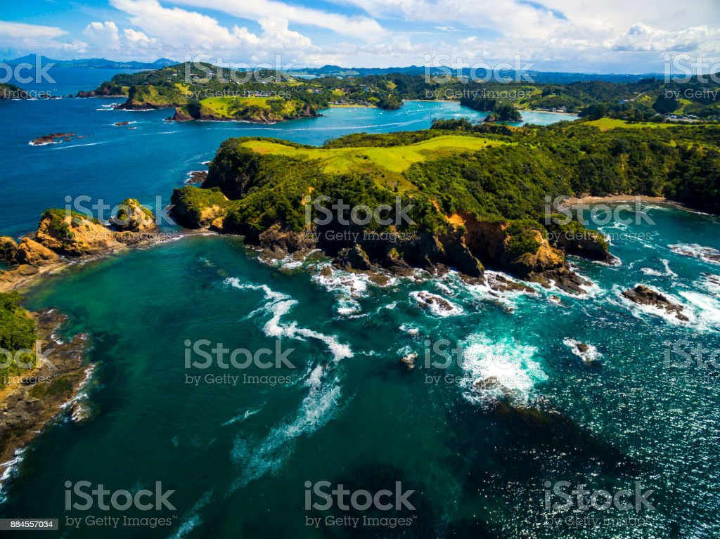 Tutukaka Aerial View stock photo