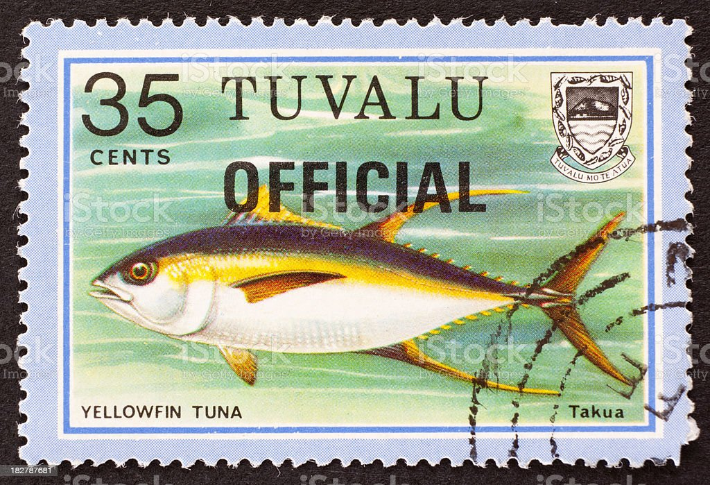 Tuvalu postage stamp stock photo