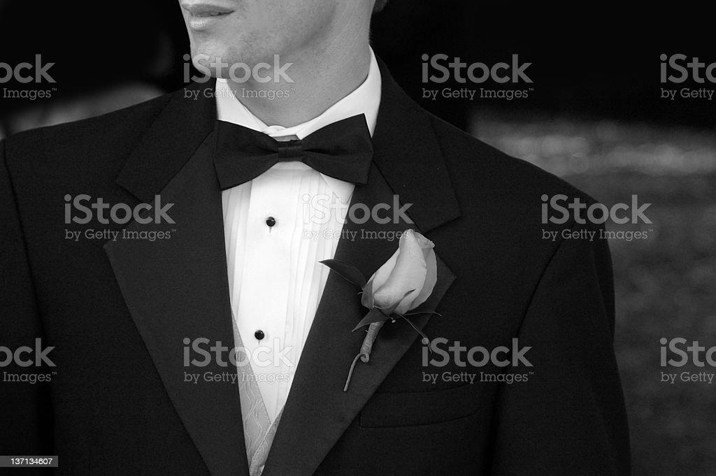 Tux man royalty-free stock photo