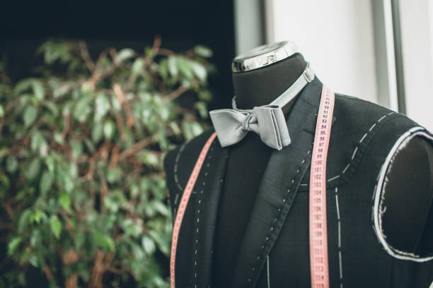 Tuxedo and bow tie on the mannequin stock photo