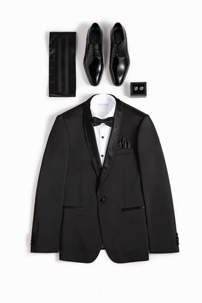 tuxedo isolated on white background - tuxedo stock photos and pictures