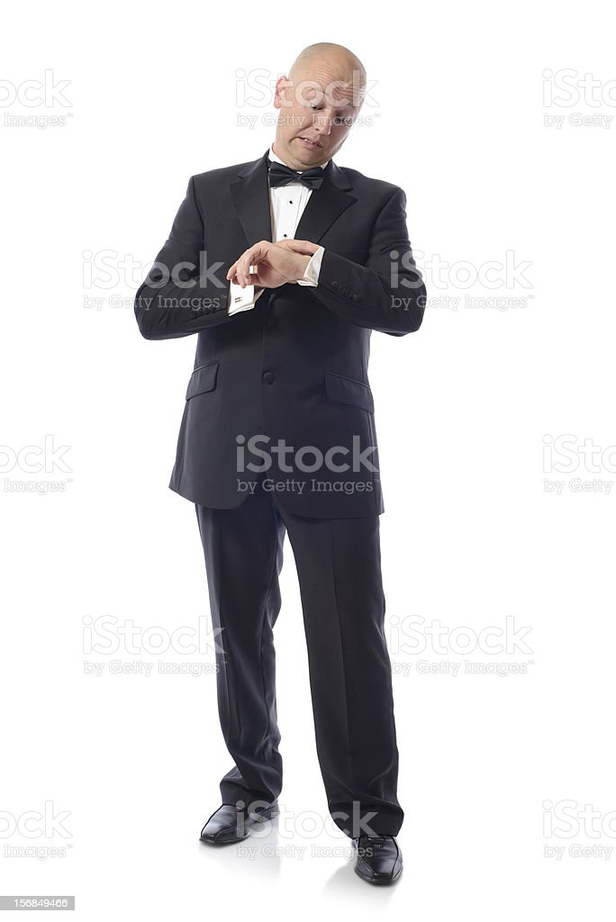 tuxedo late royalty-free stock photo