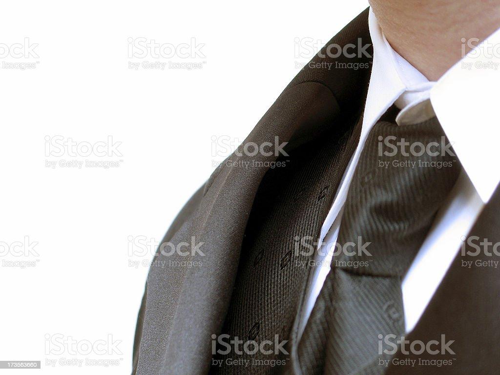 Tuxedo profile royalty-free stock photo