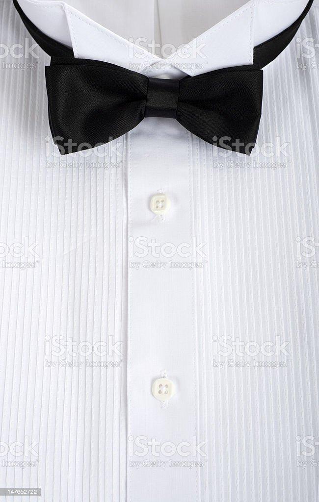 Tuxedo Shirt Background stock photo