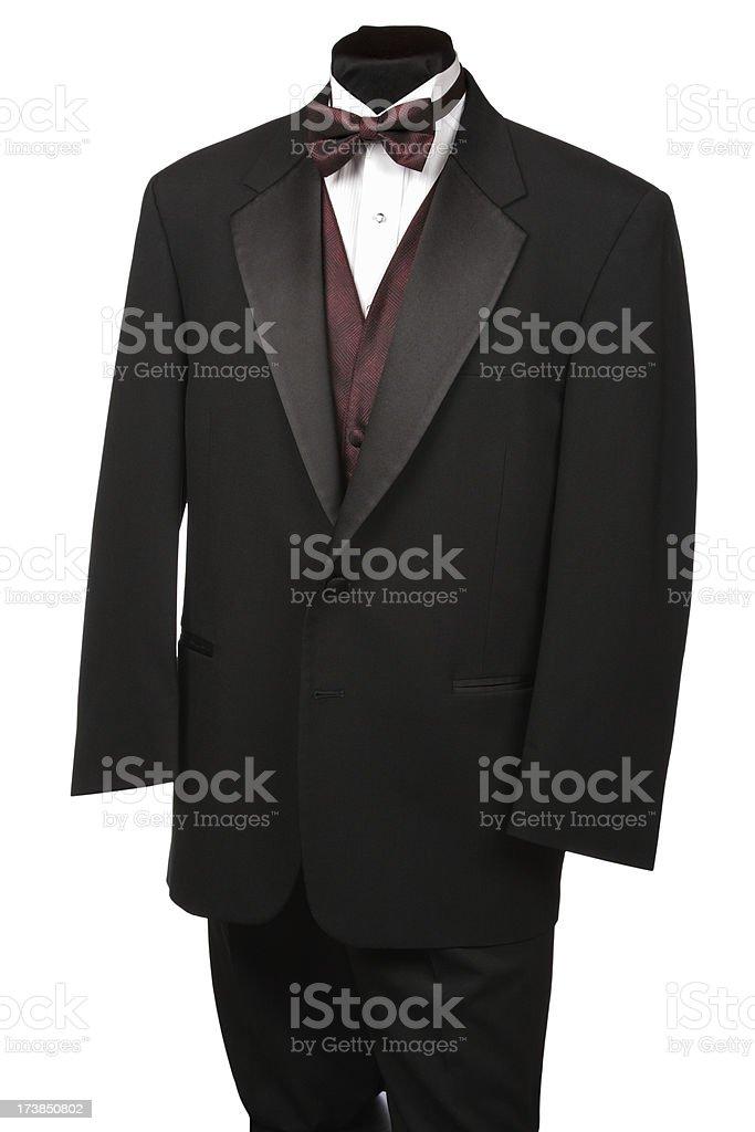Tuxedo with Tie and Vest stock photo
