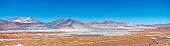 Tuyajto lake on the andes cordillera near San Pedro de Atacama
