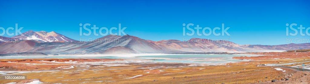Tuyajto lake on the andes cordillera near San Pedro de Atacama stock photo