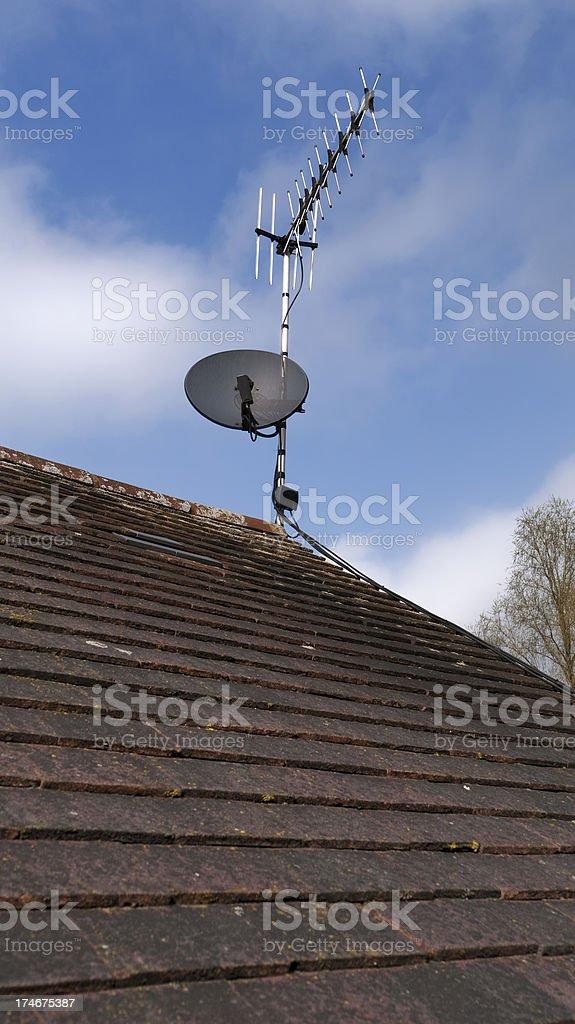 tv aerial stock photo