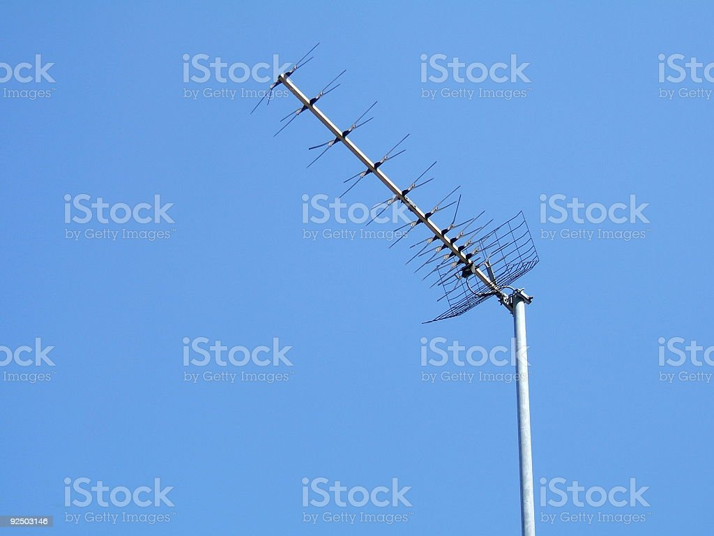 tv aerial royalty-free stock photo