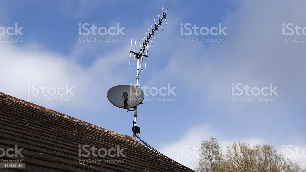 tv arial stock photo