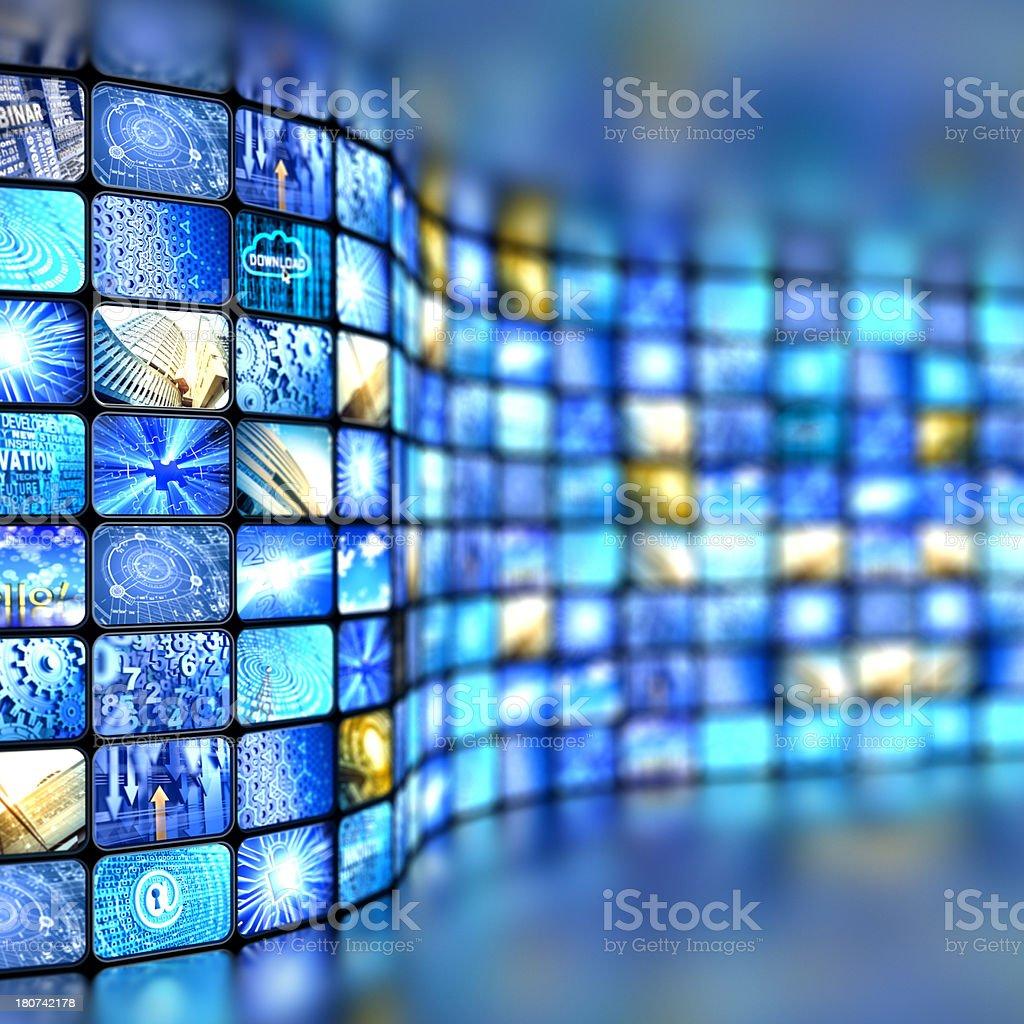 tv displays stock photo