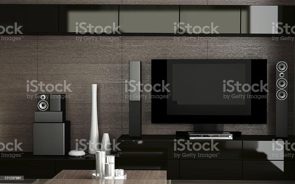 tv home cinema stock photo
