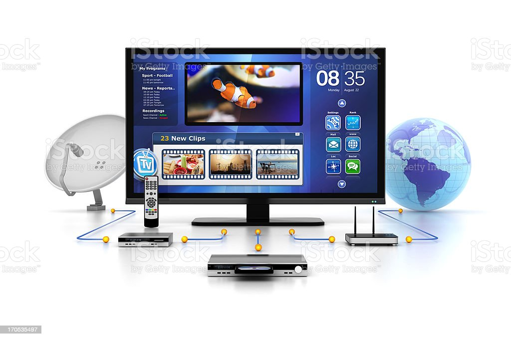 tv inputs and media sources royalty-free stock photo