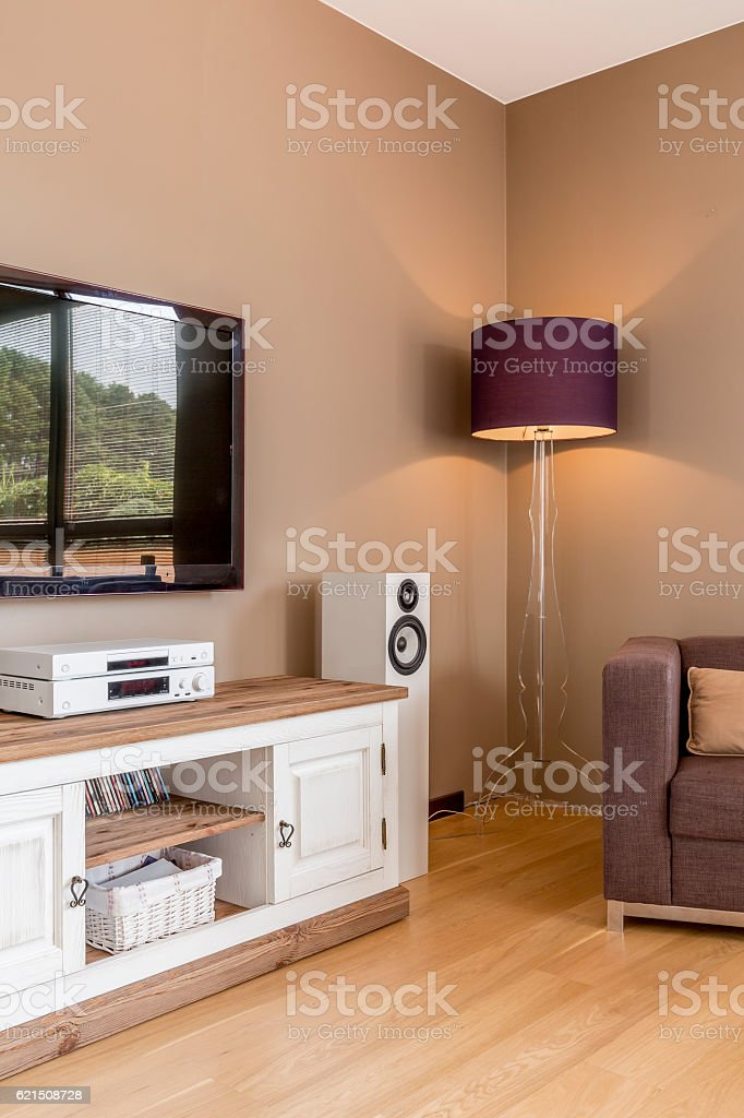 Tv living room idea foto stock royalty-free