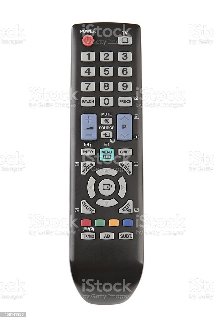 Tv Remote Control Stock Photo - Download Image Now - iStock