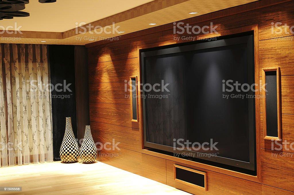 tv room stock photo
