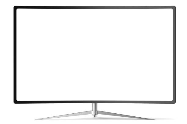 Tv screen - Stock image Tv screen on white with clipping path 4k resolution stock pictures, royalty-free photos & images