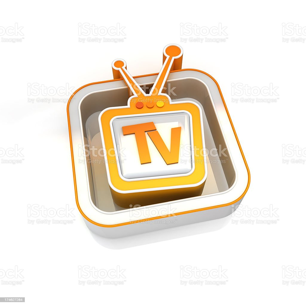 tv show icon royalty-free stock photo
