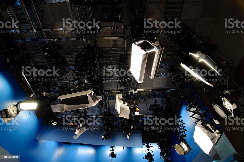 tv studio lighting royalty-free stock photo