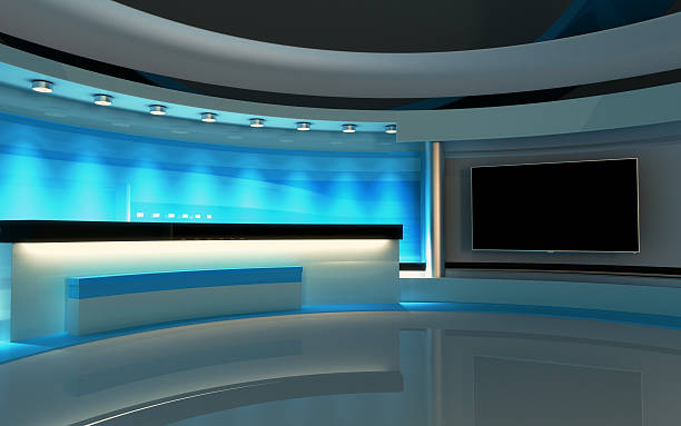 Tv Studio. News studio. The perfect backdrop for any green screen or chroma key video or photo production. arrange stock pictures, royalty-free photos & images
