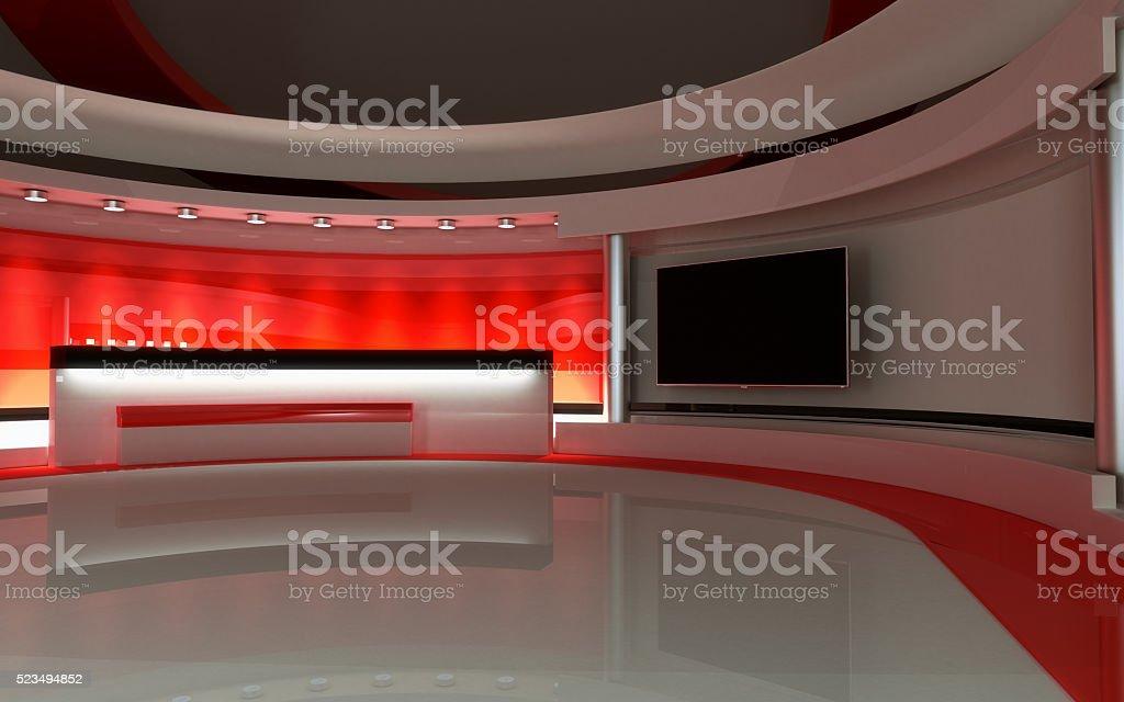 Tv Studio. News studio. stock photo