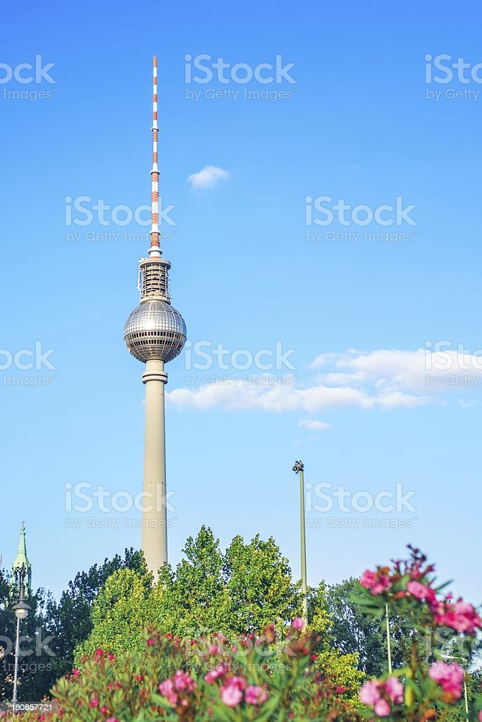 Tv tower in Berlin, Germany royalty-free stock photo