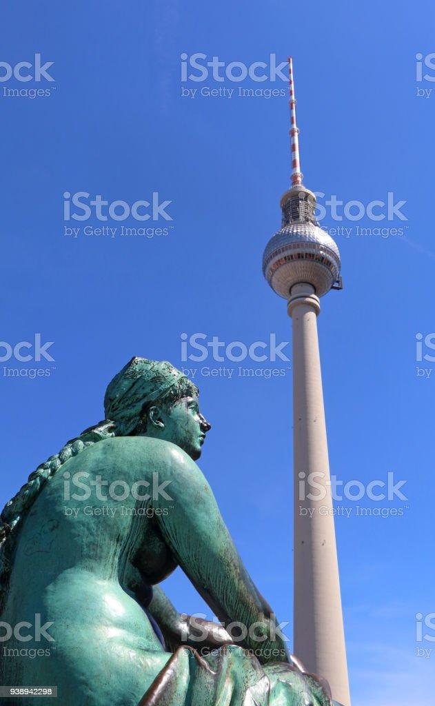 Tv Tower in Berlin stock photo