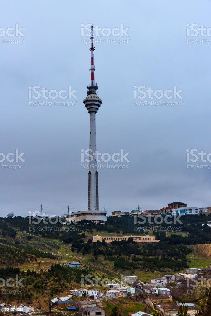 Tv tower in the evening. Baku. Azerbaijan - Royalty-free Architecture Stock Photo