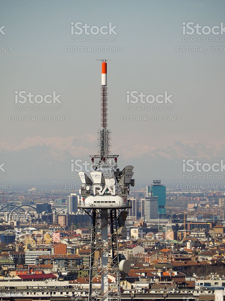 RAI tv tower royalty-free stock photo