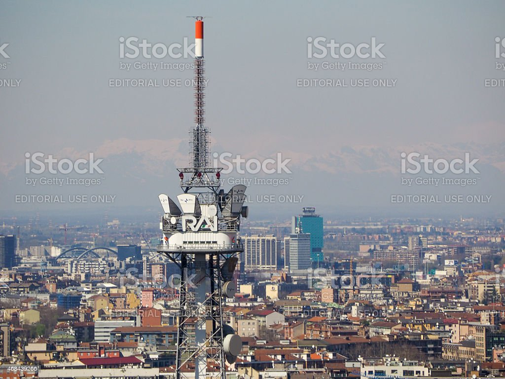 RAI tv tower - Foto stock royalty-free di 2015