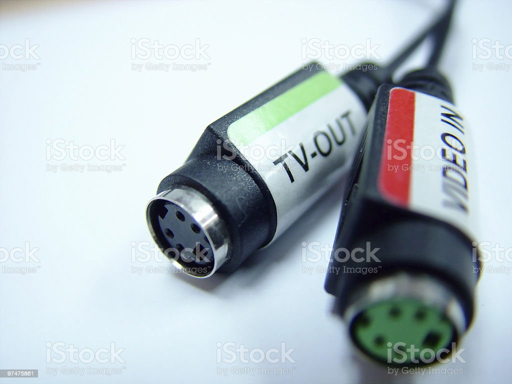 TV-Out / Video-In stock photo