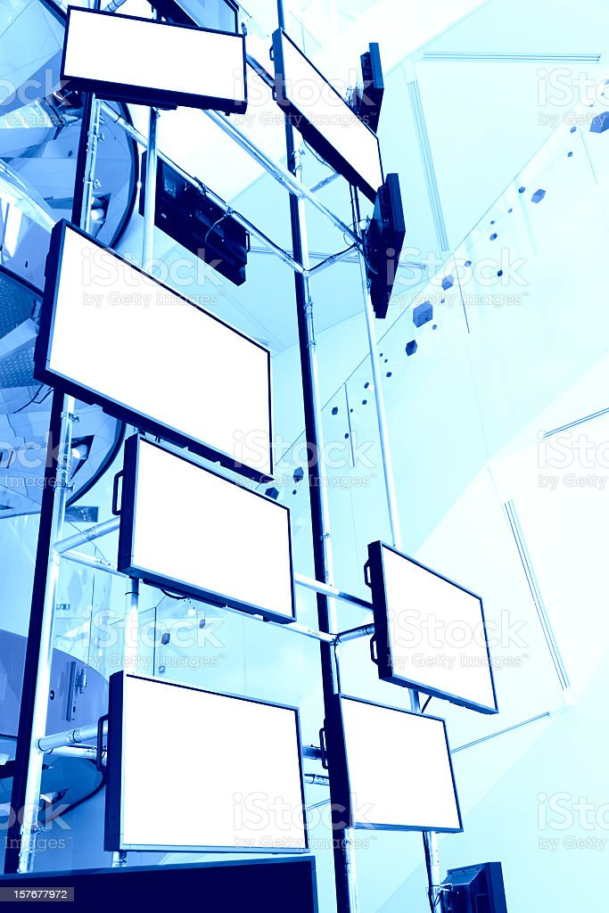 LCD TVs royalty-free stock photo
