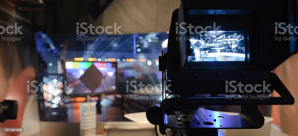 TV-Studio stock photo
