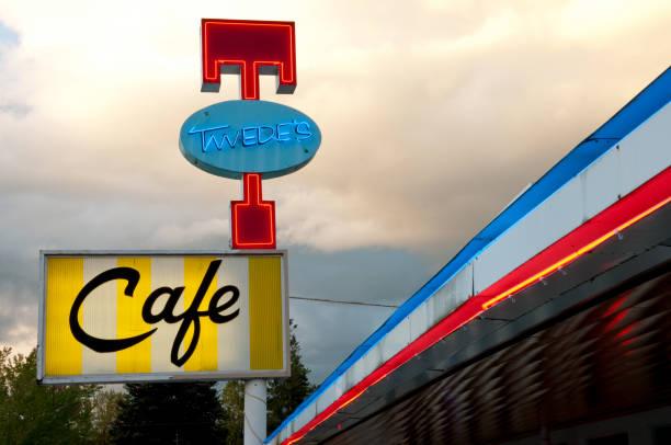twedes cafe - snoqualmie foto e immagini stock