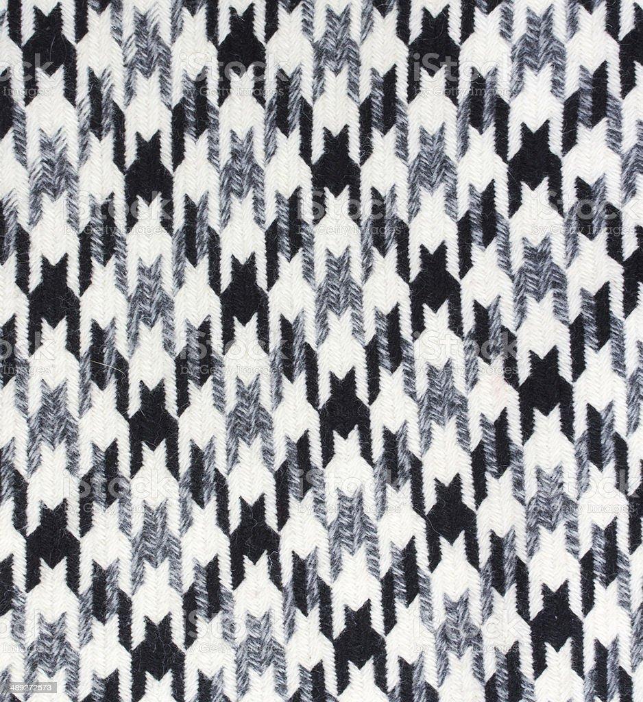Tweed fabric houndstooth texture stock photo