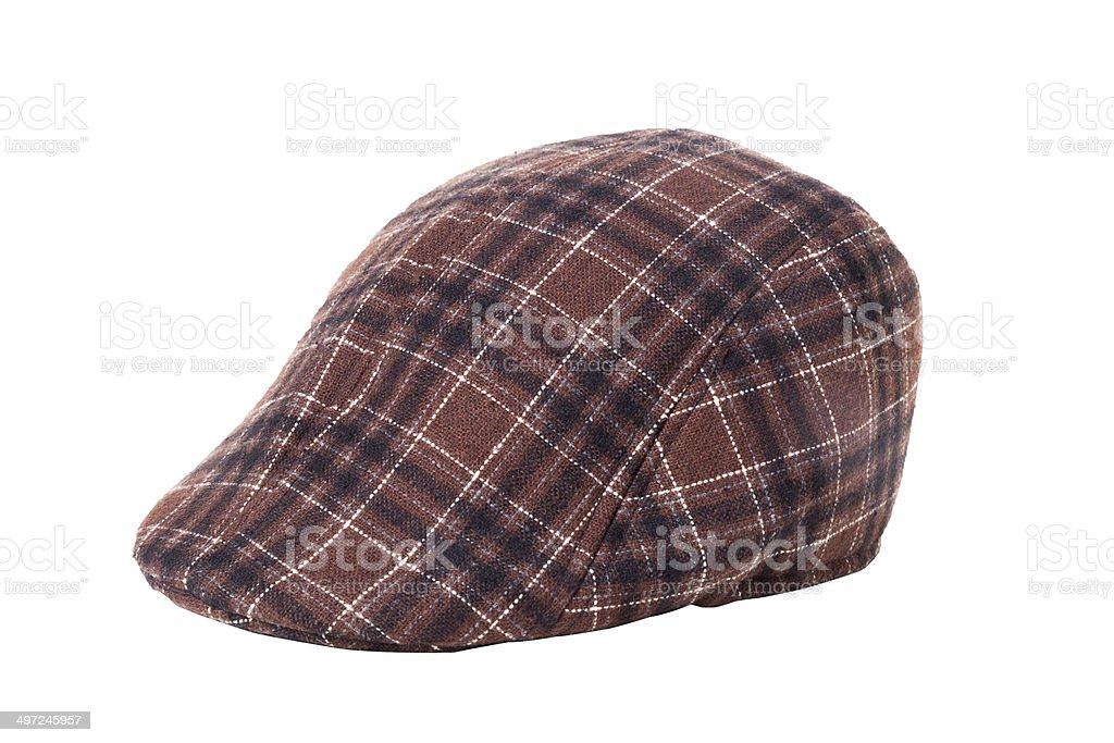Tweed Flat Cap Isolated stock photo