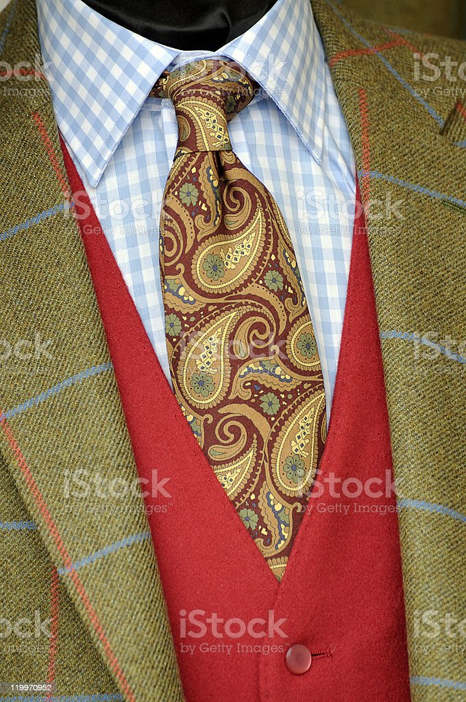 Tweed jacket and tie stock photo