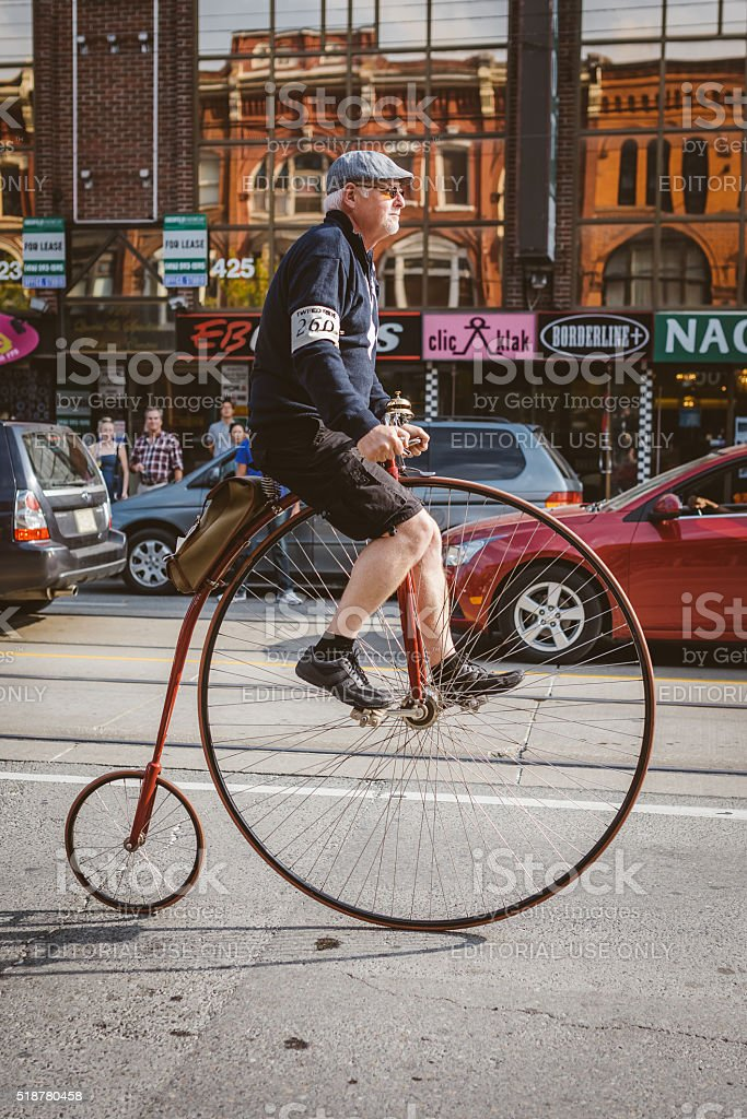 Toronto, Canada - September 20, 2014: Tweed Ride Toronto stock photo