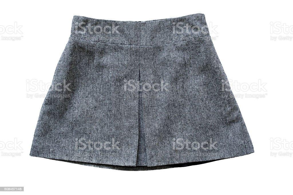Tweed skirt stock photo
