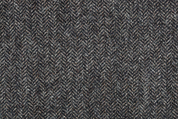 tweed textile background - wool stock photos and pictures