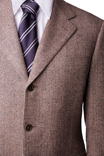 Tweed-blazer aus Wolle, Hemd und Krawatte mit windsor-Knoten – Foto