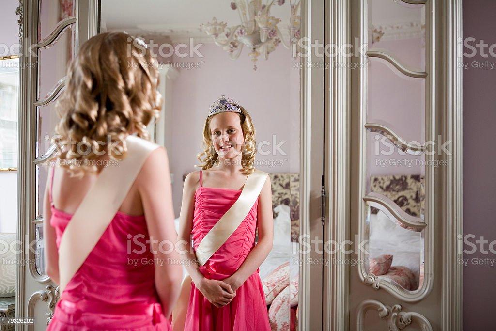 Tween beauty queen stock photo