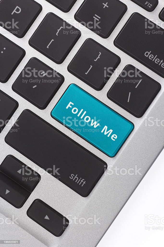 Tweet on Enter key royalty-free stock photo