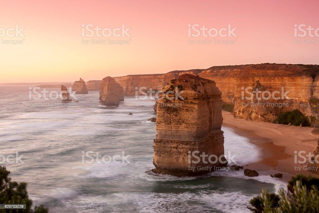Twelve Apostles. Color filter.  Port Campbell National Park. Australia stock photo