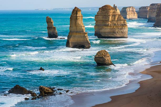 Twelve Apostles, Great Ocean Road, Victoria, Australia stock photo