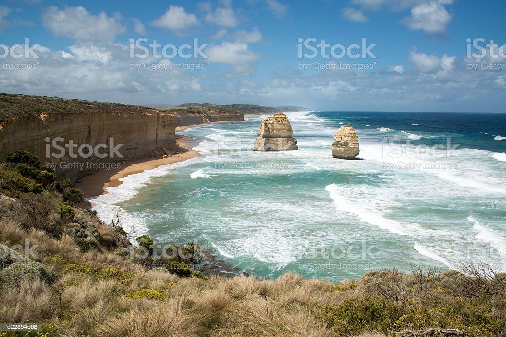 Twelve Apostles, Great Ocean Road, Victoria Australia stock photo