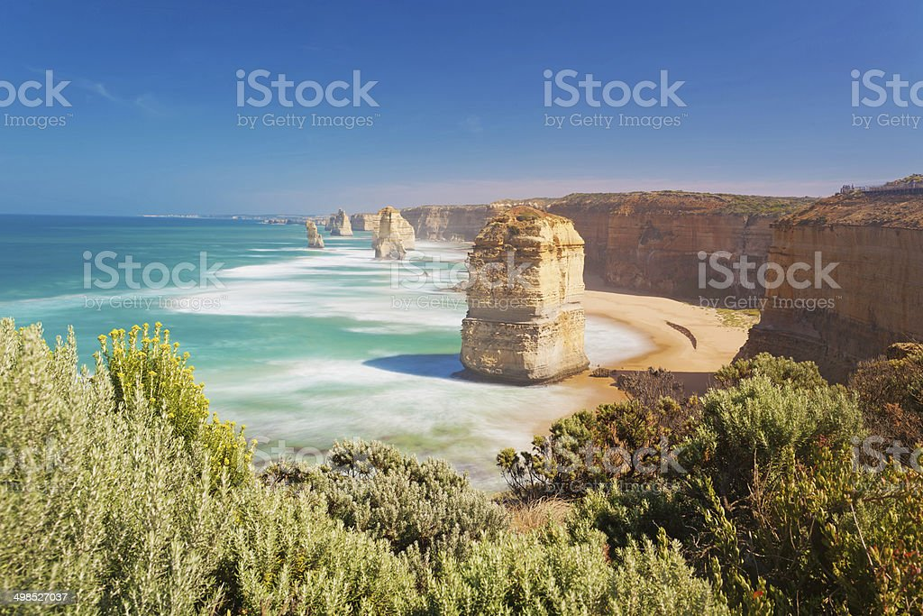 Twelve Apostles in Australia, long exposure stock photo