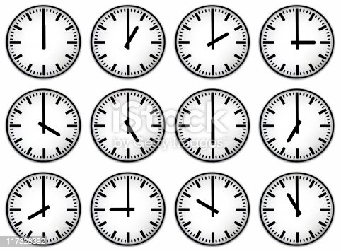 istock Twelve hours clock face 117328392