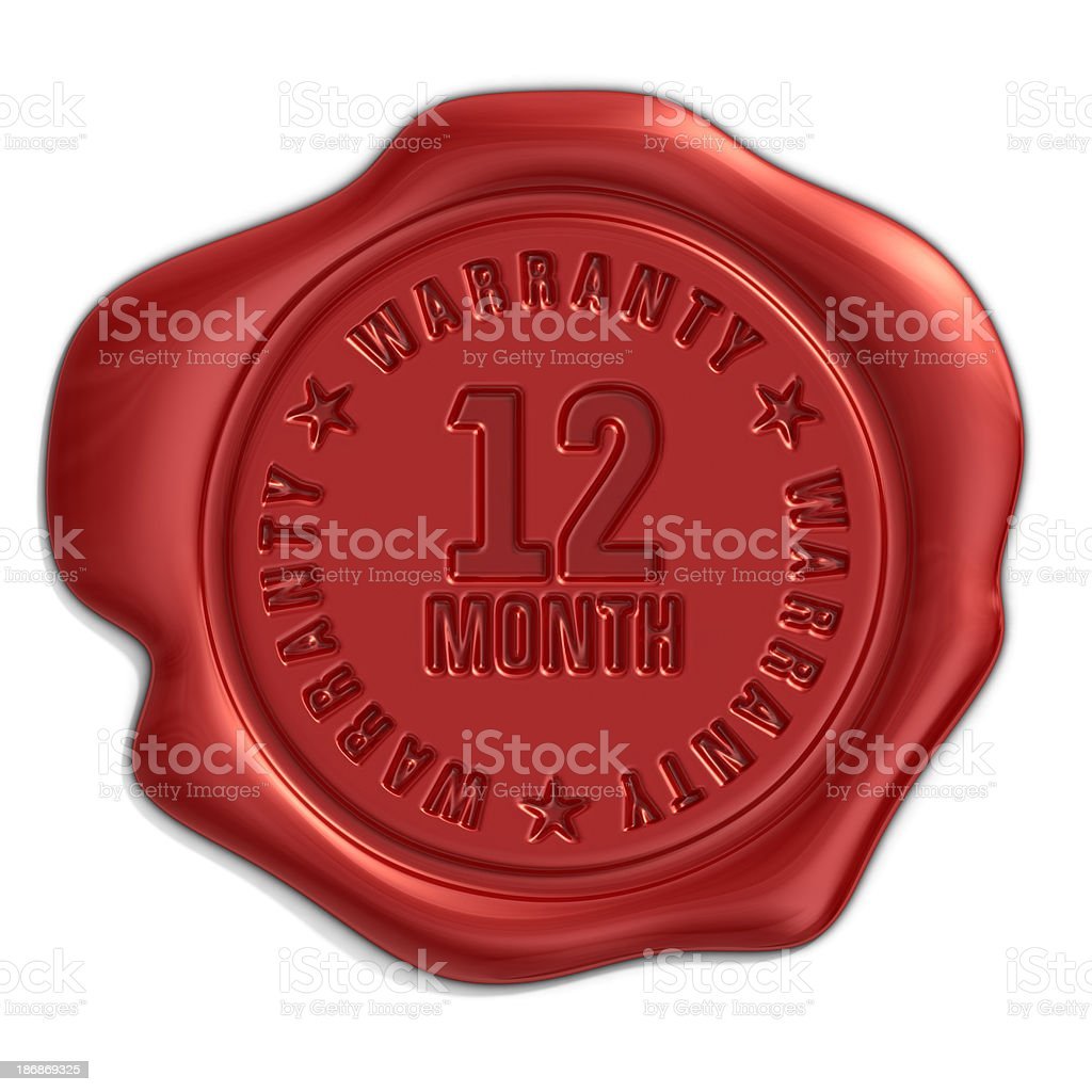 twelve month warranty seal royalty-free stock photo