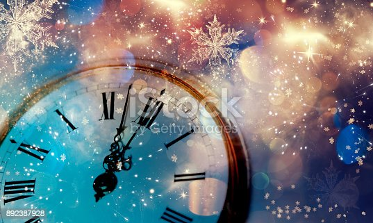 istock Twelve o'clock - new year's eve 892387928